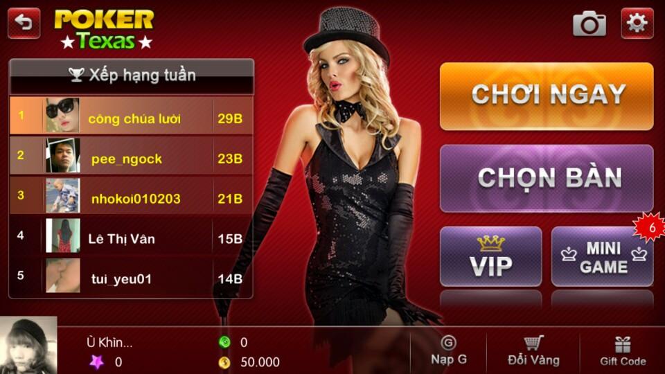 Hướng dẫn đổi avatar game chơi đánh bài online, mini game zingplay