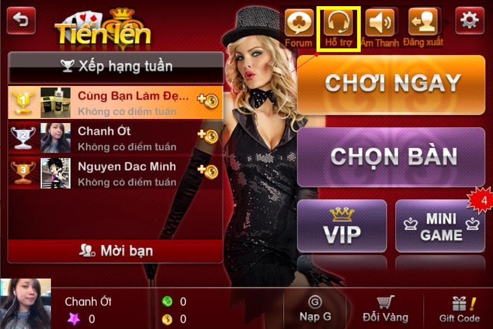 Game chơi đánh bài online bản mobile
