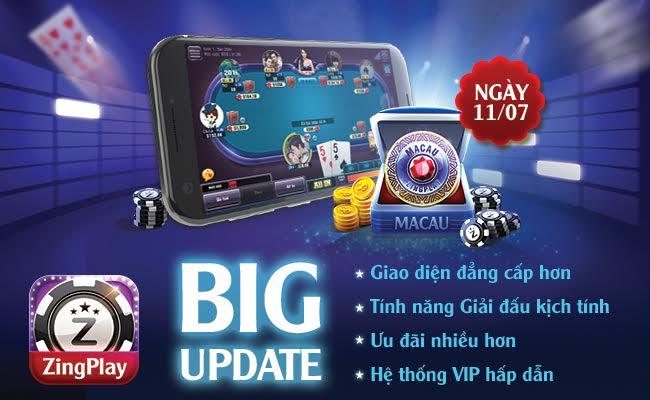 Cập nhật Update Game chơi đánh bài online Poker Texas