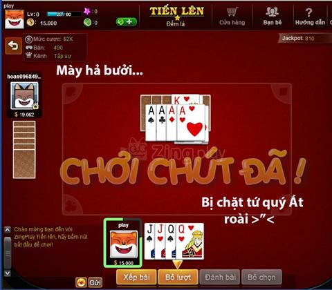 giải trí với game bài online