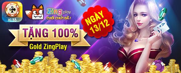 Tặng 100% Gold game chơi đánh bài xì tố online