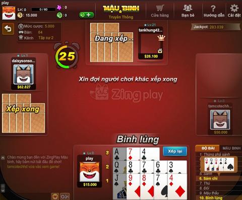 Cách chơi Game bài Mậu Binh (Binh xập xám)   KU888